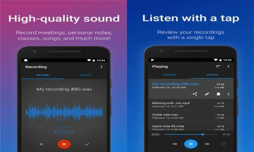 easy voice recorder aplikasi penunjang aktivitas mahasiswa untuk merekam suara