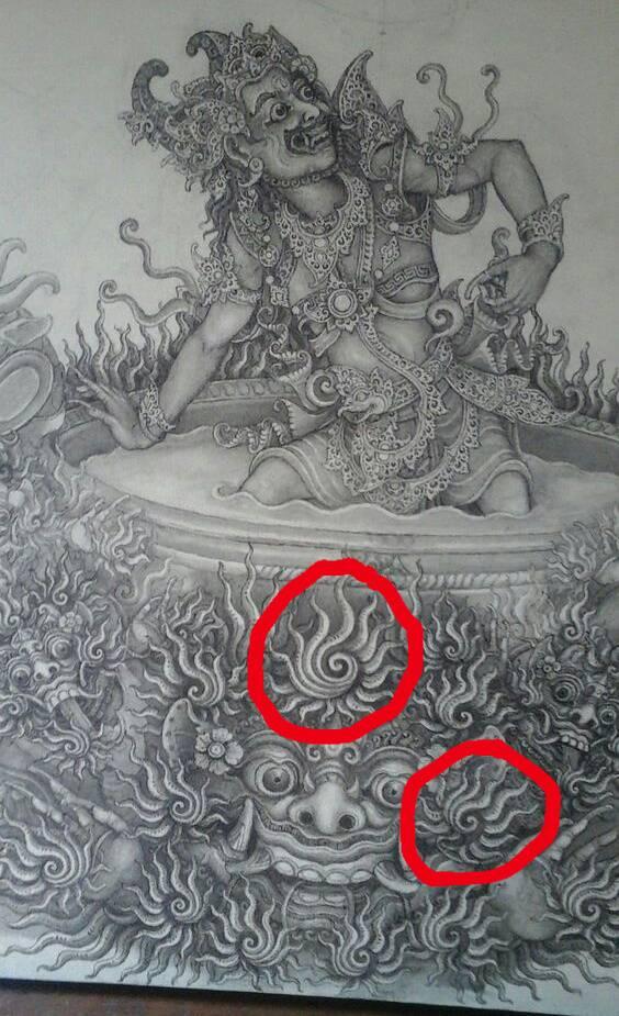 Dokumentasi Pribadi : lukisan karya I Ketut Ginarsa